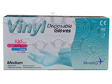 GLOVES BLUE VINYL x 100
